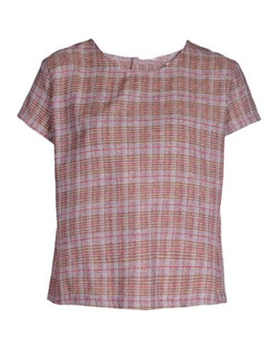 Pink Knitted Flannel Tee