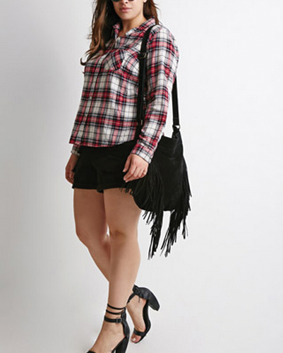 Plum planner Oversized Flannel Shirt