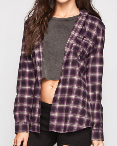 Poise Purple Vegetable Flannel Shirt