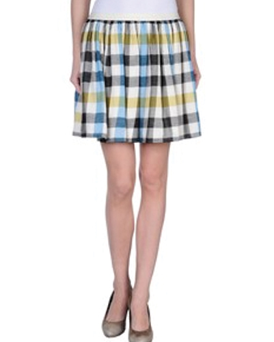 Poppy Check Pleated Flannel Skirt