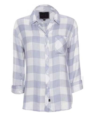 Porcelain Check Flannel Shirt