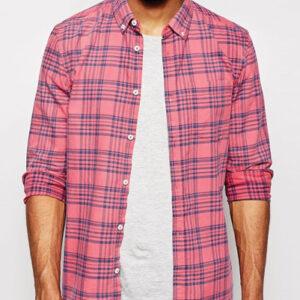 Posh Pink Check Flannel Shirt
