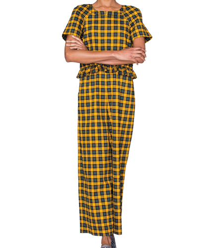 Pretty Peasant Flannel Jumpsuit