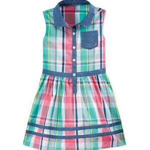 Pretty Pink Flannel Check Dress