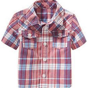 Purple Mesh Checks Baby Shirt