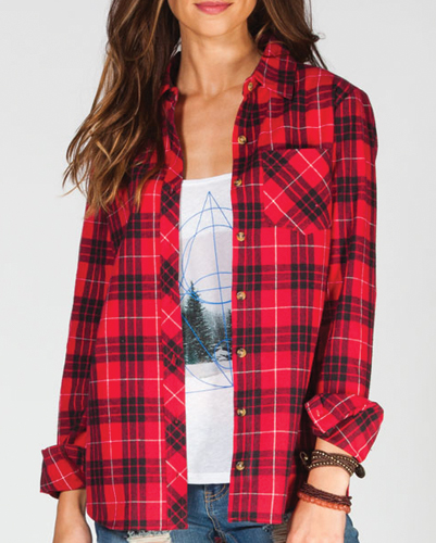 Radiance Infectious Red Flannel Shirt