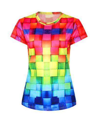 Rainbow Tiled Flannel Tee
