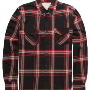 Red and Brown Flannel Shirt