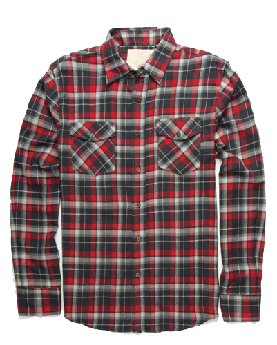 Red and Grey Flannel Shirt