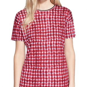 Red and White Dotted Tee
