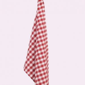 Red and White Gingham Check Towel