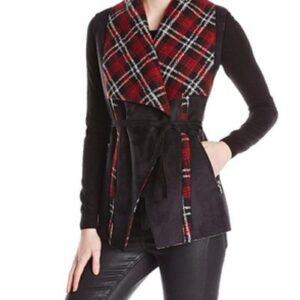 Wholesale Red Black Belted Jacket Manufacturer
