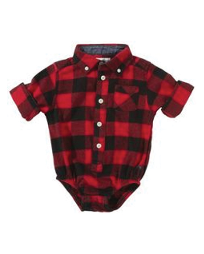 Red & Black Checked Diaper Shirt