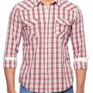 Red Box Structured Checked Flannel Shirt