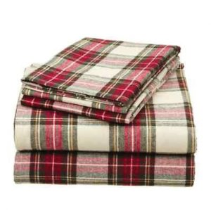 Red Checked Flannel Bed Sheet