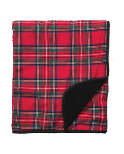 Red Cheerful Flannel Blanket