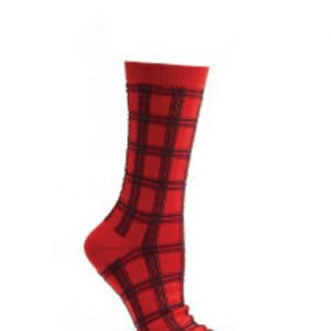 Red Shack Check Socks