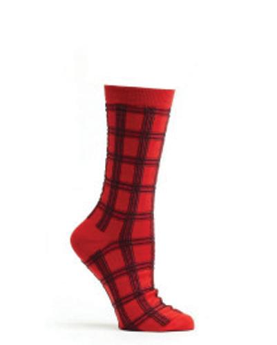 Red Shack Check Socks