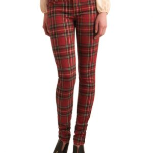 Red Skinny Fit Pants