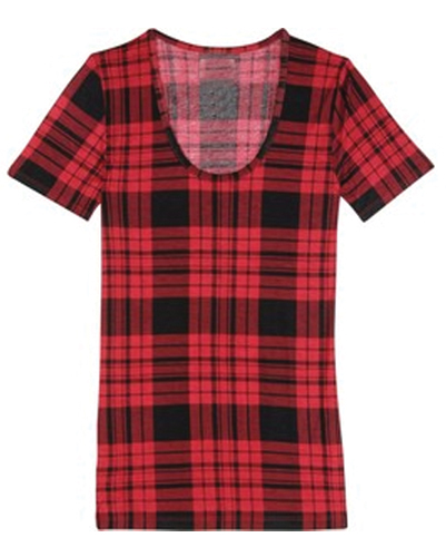 Red Tunic Flannel Tee
