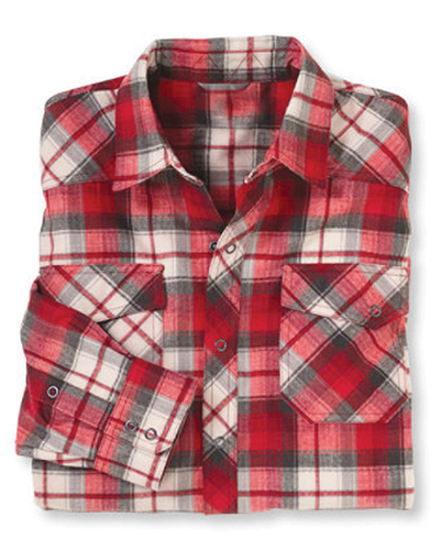 Red, White and Grey Trudging Check Shirt