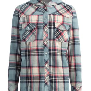 Regular Red Check Girls' Flannel Shirt