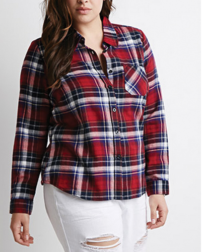 Reinforce Red Oversized Flannel Shirt