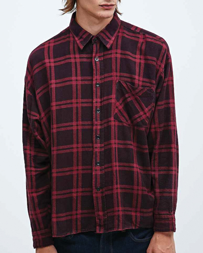 Riding Glory Red Checked Flannel Shirt