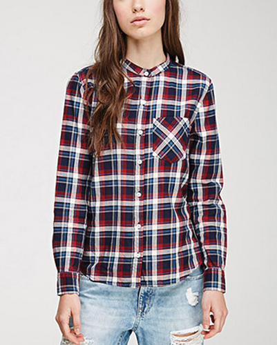 Rosanne Heights Red Checked Flannel Shirt