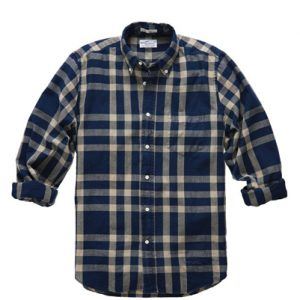 Royal Blue Checked Designer Flannel Shirt