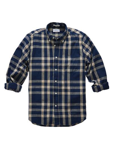 Royal Blue Checked Designer Flannel Shirt