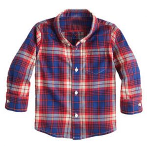 Royal Blue Madras Checks Baby Shirt