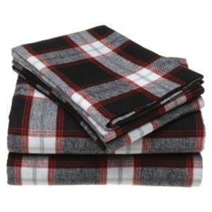 Royal Navy Bold Checked Flannel Bed Sheet