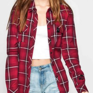 Rozelle Red Long Sleeve Flannel Shirt