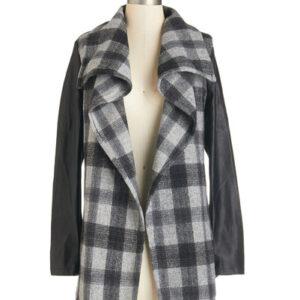 Ruffled Collared Stylish Jacket