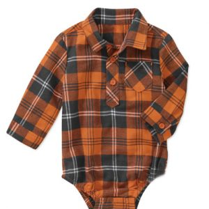 Rustic Button Up Flannel Bodysuit