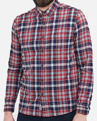 Rusty Black Checked Shirt