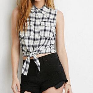 Self Tie Cream Cool Flannel Shirt