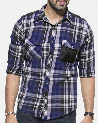 Shantung Check Flannel Shirt