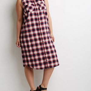 Simple Jane Shirt Flannel Dress