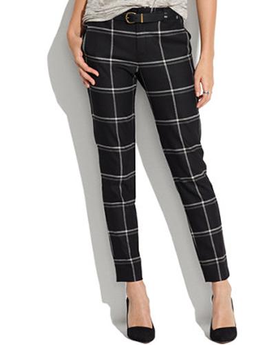 Smart Lady Black Crop Designer Flannel Pant