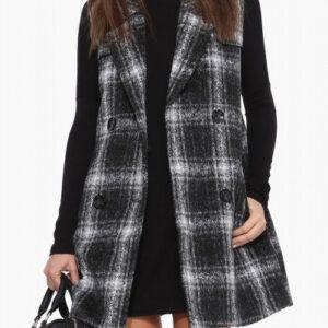 Smokey Black Flannel Coat