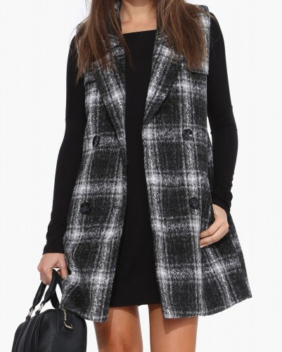 Smokey Black Flannel Coat