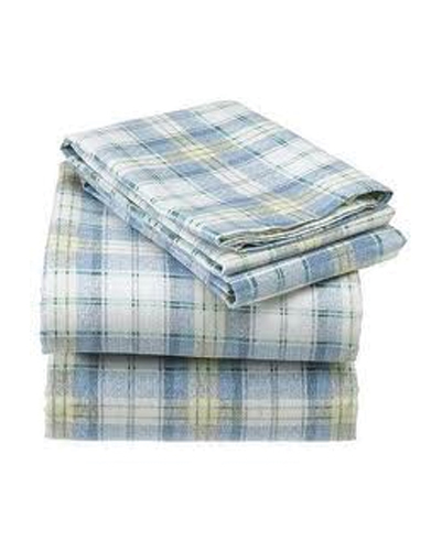 Snowy Sunshine Checked Flannel Bed Sheet