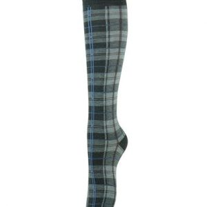 Soft Grey and Black Tartan Check Socks