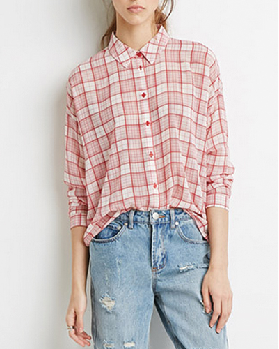 Soft Touch Red Checked Flannel Shirt