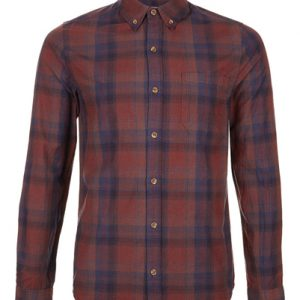 Somber Brown Madras Checked Designer Shirt