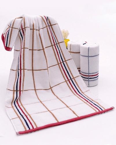 Soothing White Stripe Towel