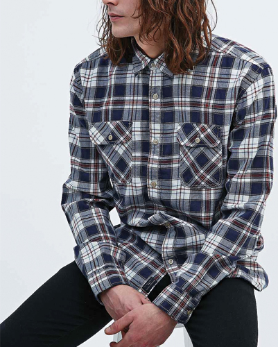 Stag Storm Long Sleeve Flannel Shirt