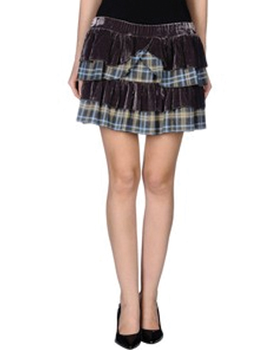 Staunch Black Detailing Check Flannel Skirt